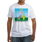 Cat Fire Hydrant Issue Fitted T-Shirt
