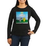 Cat Fire Hydrant Women's Long Sleeve Dark T-Shirt
