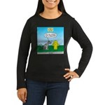 Cat Fire Hydrant Women's Long Sleeve Dark T-Shirt