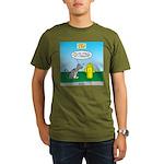 Cat Fire Hydrant Issu Organic Men's T-Shirt (dark)