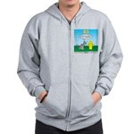 Cat Fire Hydrant Issue Zip Hoodie