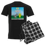 Cat Fire Hydrant Issue Men's Dark Pajamas