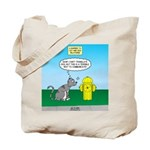 Cat Fire Hydrant Issue Tote Bag