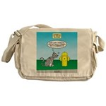 Cat Fire Hydrant Issue Messenger Bag