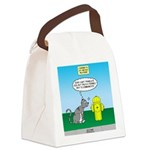 Cat Fire Hydrant Issue Canvas Lunch Bag