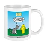 Cat Fire Hydrant Issue 11 oz Ceramic Mug