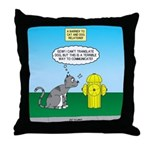 Cat Fire Hydrant Issue Throw Pillow