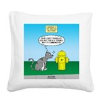 Cat Fire Hydrant Issue Square Canvas Pillow