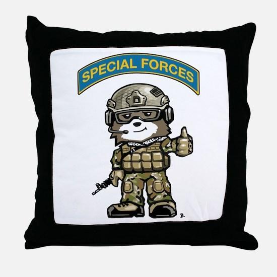 Cute Military kids Throw Pillow