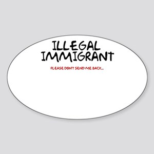 Illegal Immigrant Oval Sticker