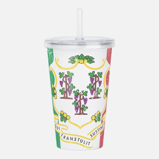 Connecticut Italian Am Acrylic Double-wall Tumbler