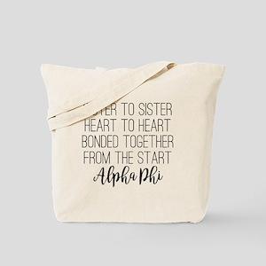 Alpha Phi Sister Tote Bag