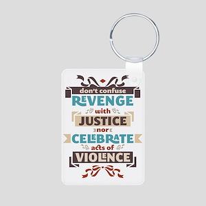 Vintage Anti Violence Aluminum Photo Keychain