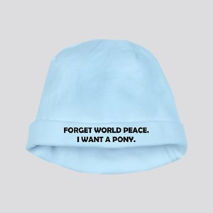Forget World Peace baby hat