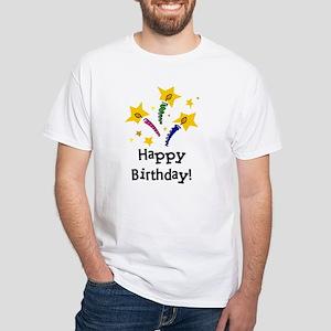 Birthday Candles White T-Shirt