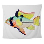 Ram Butterfly Cichlid Wall Tapestry