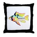 Ram Butterfly Cichlid Throw Pillow