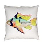 Ram Butterfly Cichlid Everyday Pillow