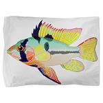 Ram Butterfly Cichlid Pillow Sham