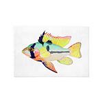 Ram Butterfly Cichlid 4'x6' Area Rug