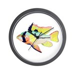 Ram Butterfly Cichlid Wall Clock