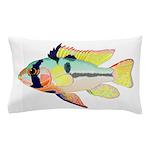 Ram Butterfly Cichlid Pillow Case