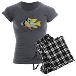 Ram Butterfly Cichlid Women's Charcoal Pajamas