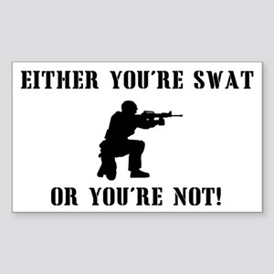 SWAT or not Rectangle Sticker