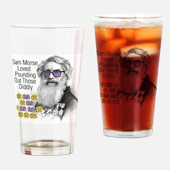 Diddly Rapper Sam Morse Drinking Glass