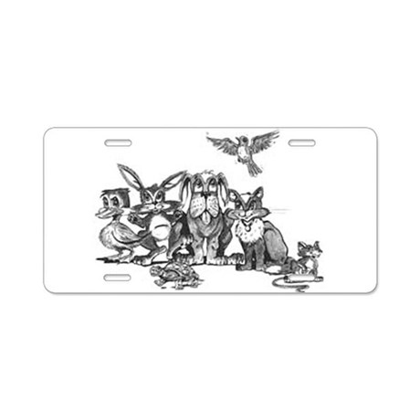 Gang of Animals Aluminum License Plate by petdrawings