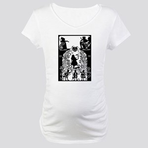 Alice in Wonderland Silhouette Maternity T-Shirt