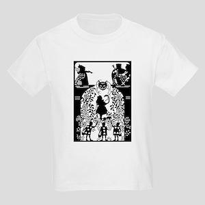 Alice in Wonderland Silhouette Kids Light T-Shirt