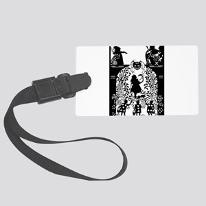 Alice in Wonderland Silhouette Large Luggage Tag