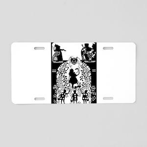 Alice in Wonderland Silhoue Aluminum License Plate