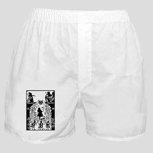 Alice in Wonderland Silhouette Boxer Shorts