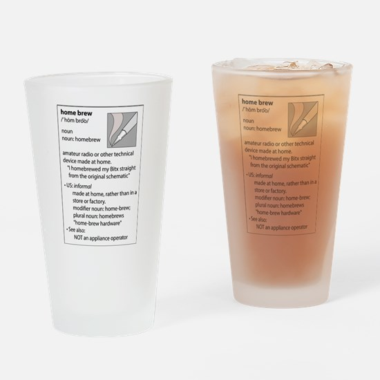 Homebrew definition Drinking Glass