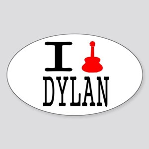 Listen To Dylan Sticker (Oval)