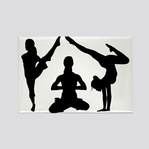 Yoga Silhouettes Magnets
