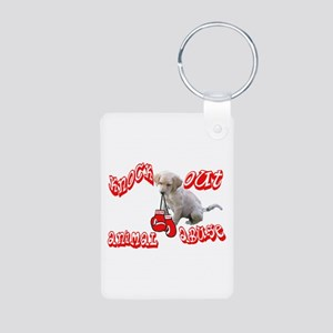 Knock Out Animal Abuse Aluminum Photo Keychain