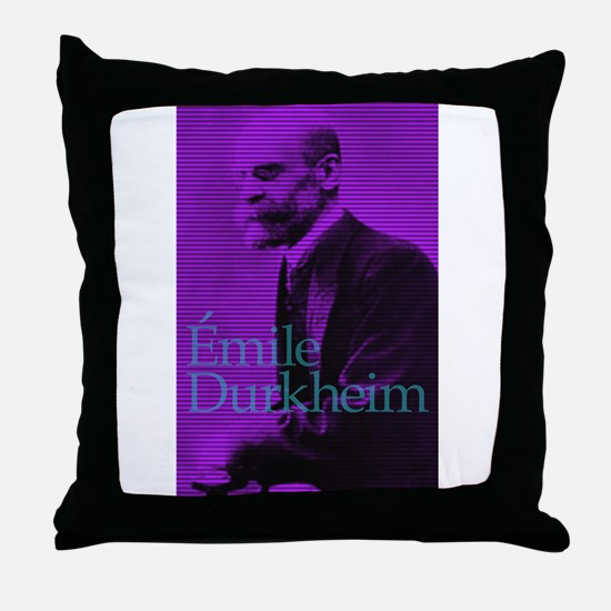 Emile Durkheim Throw Pillow