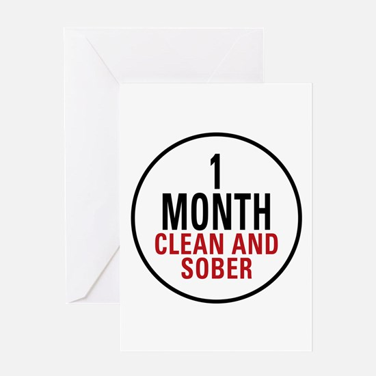 1 Month Clean & Sober Greeting Card