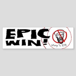 Epic Win Osama Dead Sticker (Bumper)