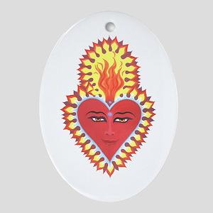 Sacred Heart of Buddah Oval Ornament