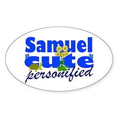 Cute Samuel Sticker (Oval 10 pk)