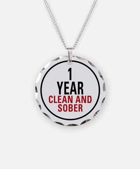 1 Year Clean & Sober Necklace