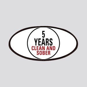 5 Years Clean & Sober Patches