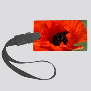 Beautiful Red Poppies Large Luggage Tag