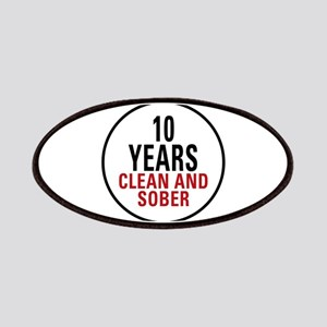10 Years Clean & Sober Patches