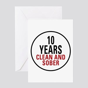 10 Years Clean & Sober Greeting Card