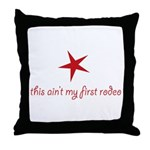 first rodeo Throw Pillow